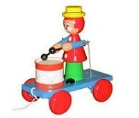 quality_wooden_toys_wholesale_2101_traditional_pull_along_drumming_clown_wholesale
